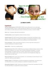 les ingredient du wrap corps et visage et comment faire