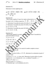nombre complexe serie n 1