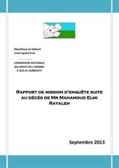 rapport sur le deces de mr mahamoud