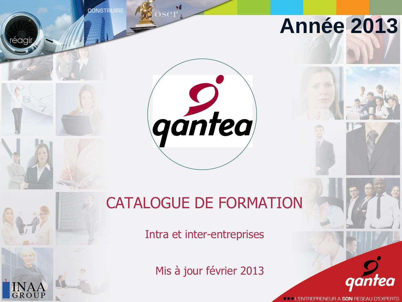 pr sentation powerpoint catalogue formation qantea 2013. Black Bedroom Furniture Sets. Home Design Ideas