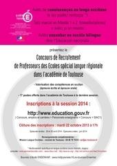 info crpe occitan session 2014