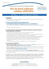 appel a candidatures 2012