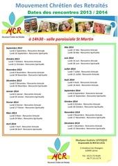 dates des rencontre du mcr 2013 2014