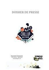 chill up festival 2nd edition dossier de presse