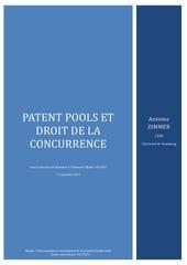 patent pools et droit de la concurrence