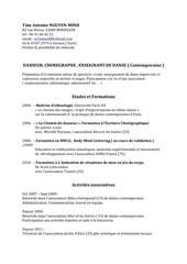 cv danse pdf