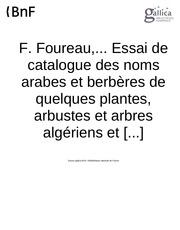 catalogues de noms de quelques arbres et arbustes algeriens en arabe et amazigh