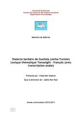 Fichier PDF dialecte berbere de guellala jerba tunisie