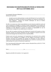 decharge de responsabilite wini bde ifsi 2013 1