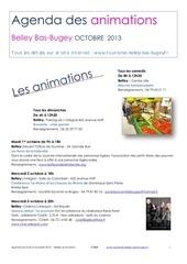agenda du mois du mois d octobre 2013 belley bas bugey