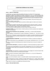 conditions gEnErales de ventes