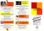programme animation octobre 2013