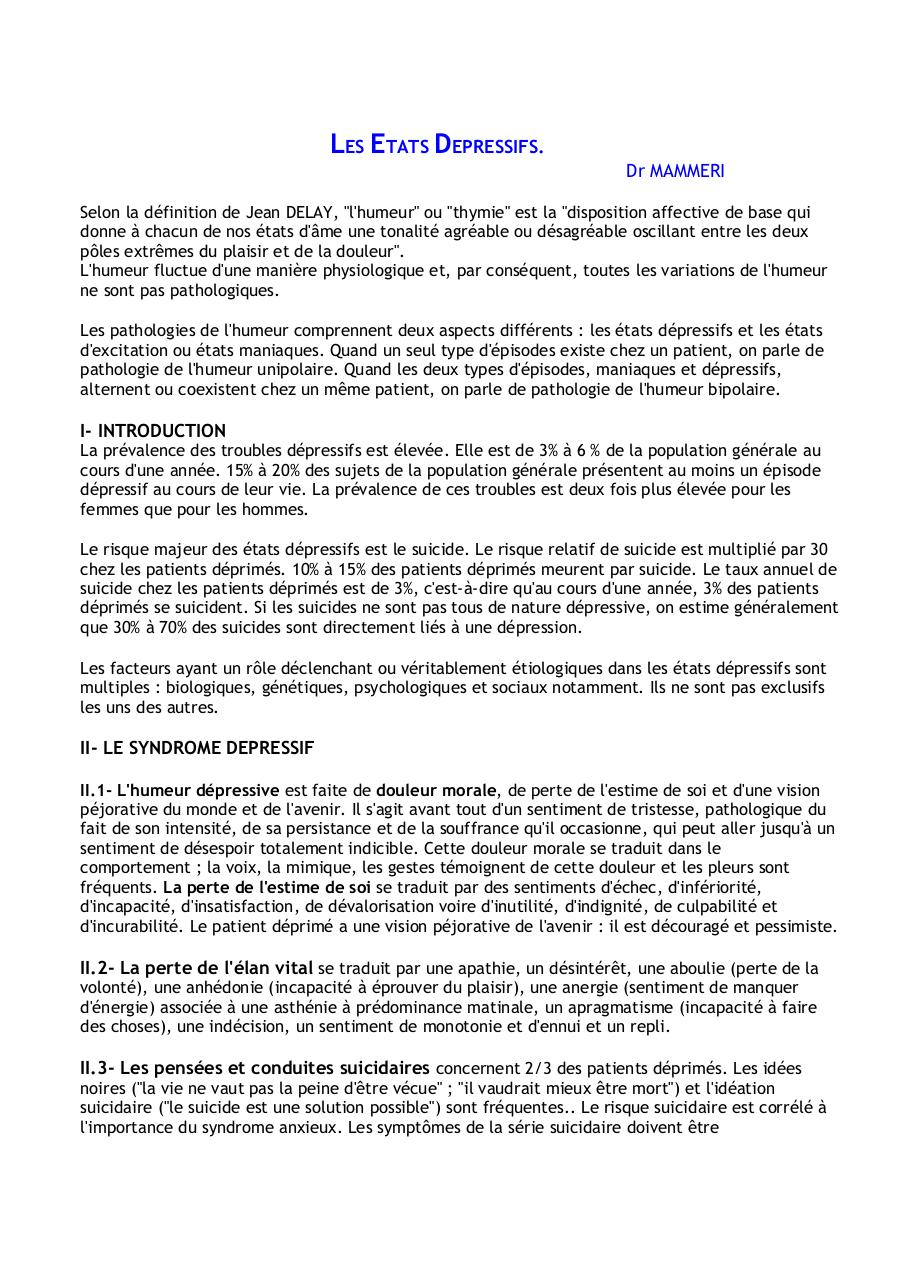 Cours depression+.pdf - page 1/8