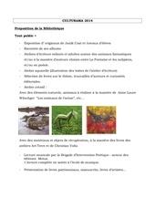 propositions bibliotheque du 25 septembre