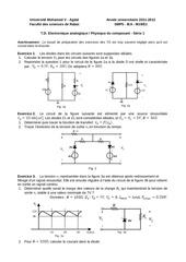 1 td1 electronique analogique