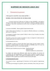 rapport mission liban 2013