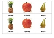 carte nomenclature fruits