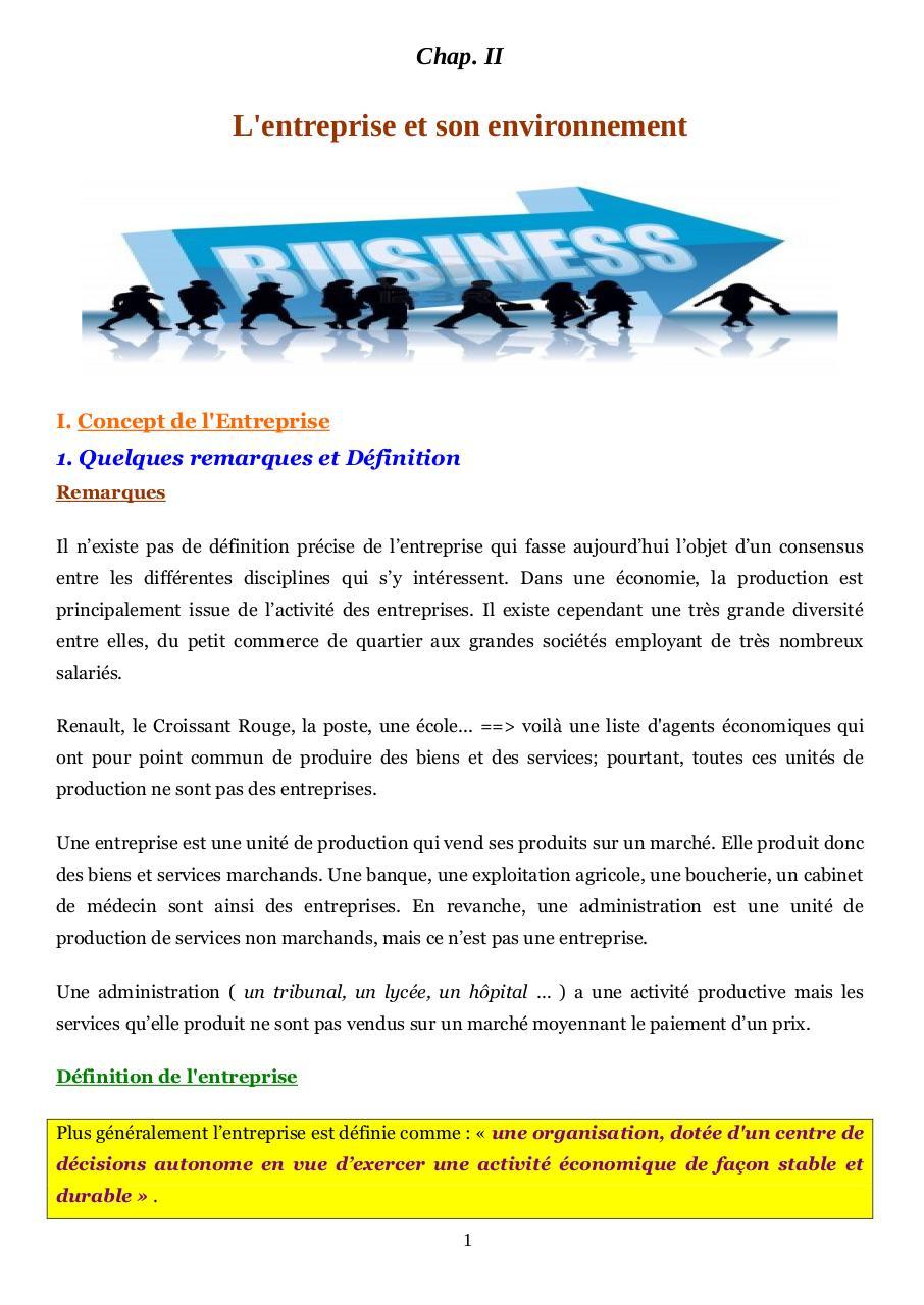 Cours Principes De Gestion Chap 2 Par Samir Fichier Pdf