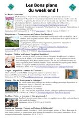 les bons plans du week end semaine n 40 2013 1