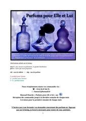 listing parfums 2013