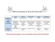 Fichier PDF menu de la semaine du 04 et 11 octobre