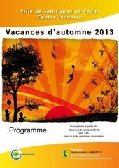 programme automne 2013 cj 1