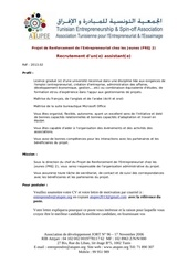 recrutement prej 2 atupee assistant 1