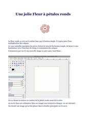 Fichier PDF la fleur ronde