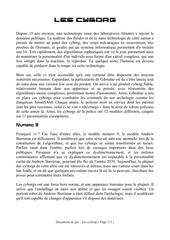 Fichier PDF les cyborg printable