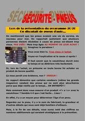 securite pneus