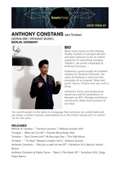 artist press kit anthony constans