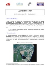 la formation proposee