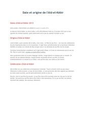 Fichier PDF date et origine de l aed el kebir