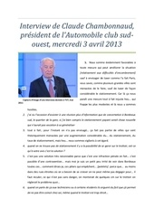 interview de claude chambonnaud