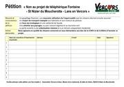 petition vac non au projet de transport par cable