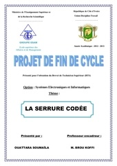 Fichier PDF conception serrure codee