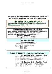 relacion actividades 12 13 octubre 2013