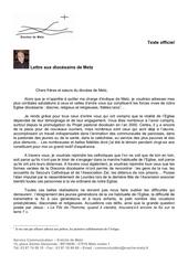 2013 10 11lettre aux diocesains mgr raffin