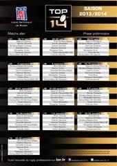 calendrier top14 saison 2013 2014 1