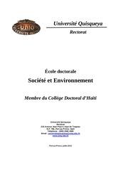 cole doctorale societe et environnement juillet 2013