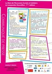communique de presse mois ess lr 2013