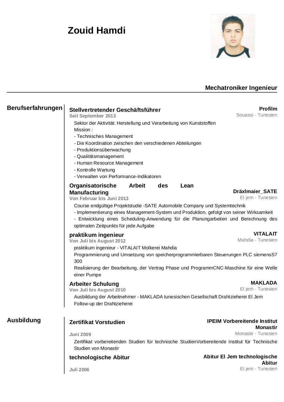 german resume samples - Ecza.solinf.co
