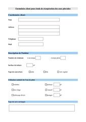 formulaire client recuperation eau de pluie