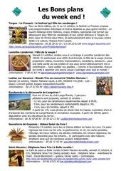 les bons plans du week end semaine n 41 2013