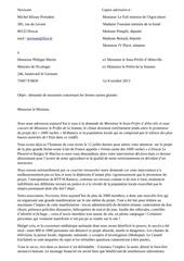 lettre ministre philippe martin