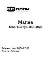 sand george 1804 1876 mattea