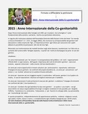 anno internazionale della co genitorialita