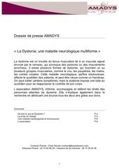 dystonie dossier de presse amadys 22072013