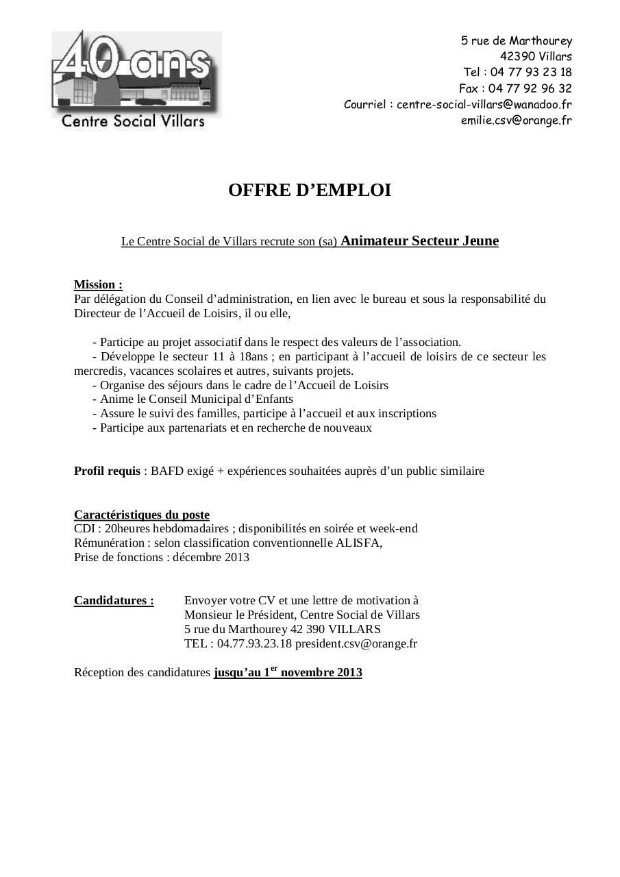 offreemploi csv doc par jeff - offreemploi csv pdf
