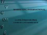 cours de laye bamba seck marketing international prix